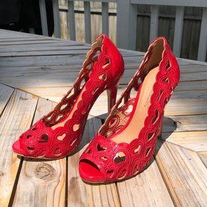 Shoe Dazzle Love Peep-Toe Heels
